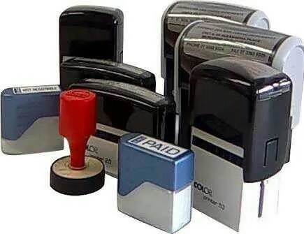 Which are the prominent features of self-inking stamps?